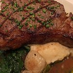 The New York strip steak