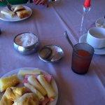 Um pouco do café da manhã.
