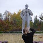 The last statue of Lenin in Ukraine