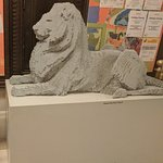 Lego Lion at the entrance to children section