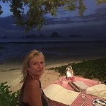 Romantic dinner on the beach at the Italian and the view whilst having breakfast each morning