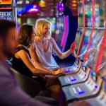 Friends at the Gaming Machines