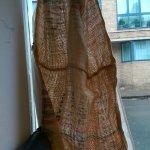 Curtains made from Hessian sacks.  Funkalicious