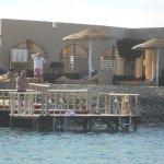 Hotel swimming jetty