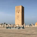Hassan Tower and 10th Century Pilings of unbuilt Mosque
