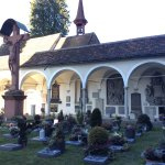 Cloisters and graves