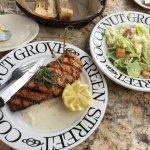 Scottish Salmon and Caesar Salad