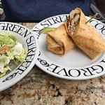 Fish Wrap, Caesar Salad