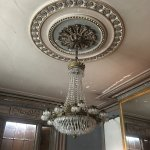One of two French chandliers in the drawing room.