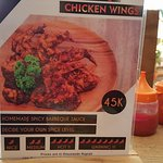Description of the chicken wings on offer