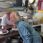 The Past and Present.  Chef Ann Cram cooked at the tavern in 1976 with present Chef Cliff Cooper