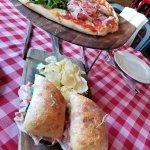 pizza and italian sandwich