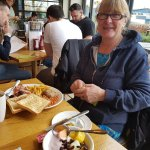 Wonderful breakfast with my mother at harvester.