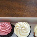 Mini cupcakes. Varies in size and amount of frosting