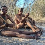Two of our Tracker guides showing us aspects of their Bushmen culture.