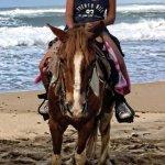 Riding on survivor beach!