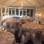 The conservatory is very popular for weddings,
