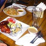 bbq ribs and jacket potatoes // fish and delicious rice