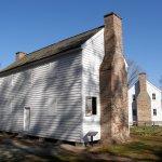 A replica of a 4-room slave quarters stands near the plantation hospital.