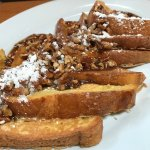 French toast with butter pecan sauce
