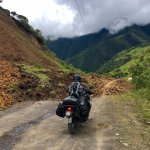 Motorcycles are the best to get around landslides.