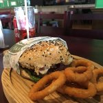 Ordered old McCarthy's classics. Burger was good onion rings weren't greasy. Must try. ( Ordene