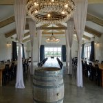 Elegant Indoor Dining Room for Large Groups, with View to Vineyard