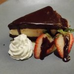 Fallen chocolate souffle