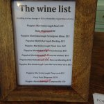 The Day's Wine List, Showing 5 Items Sold Out - Small Batches!