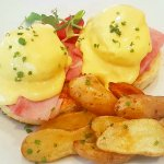 Eggs Benedict for brunch at One Restaurant