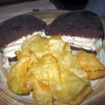 Finch (Turkey w/ bacon & melted Muenster cheese on Pumpernickel)