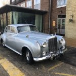 Elliot and his 1958 Bentley courtesy of The Gonville Hotel