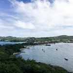 The resort from Pigeon Island