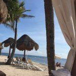 $40 USD to rent the cabana w/a bottle of champagne for a day!