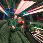 Inside our beautiful new limousine