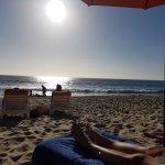 Chiilin on the beach