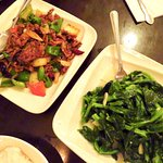 Cumin beef, spinach