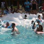 Foam pool party,it was a ton of fun
