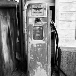 You will find this vintage gas pump at the village
