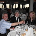 A cheerful company in the restaurant at the top of the hotel Westin Zagreb