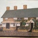 Old pic of my grandma's Dad and brother Harry's pub Ye Olde Inn now the HB. Painting is by my Au