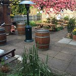Great garden and barbecue area out the back