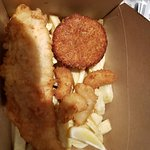 Haddock,scampi and chips