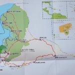 Le plan du parc national de guadeloupe