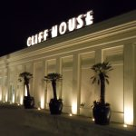 Cliff House at night.