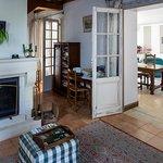 petit salon avec cheminée