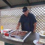 BBQ area at Jetty Caravan Park