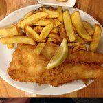 Large cod & chips