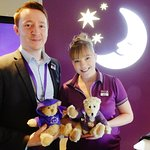 Our charming staff at the Premier Inn reception.