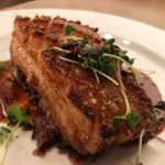 Local pork belly, served with crunchy crackling